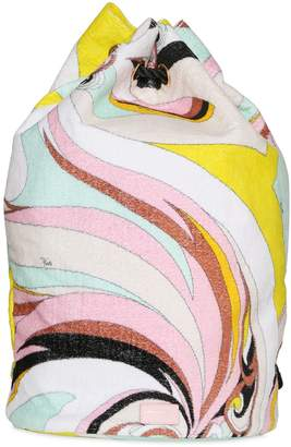 Emilio Pucci Printed Woven Cotton Drawstring Backpack