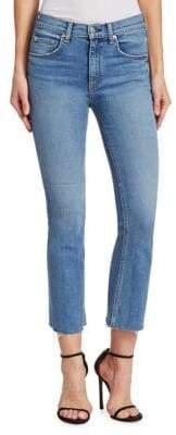 Rag & Bone Hana Crop Medium Wash Jeans