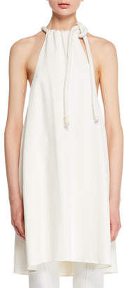 The Row Sapron Sleeveless Halter Crepe Tunic Top
