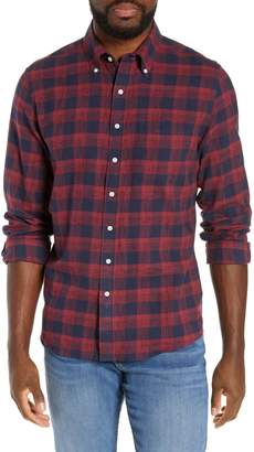The Normal Brand Regular Fit Space Dyed Check Flannel Shirt