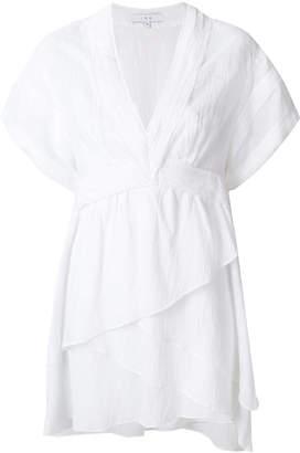 IRO layered v- skirt neck dress