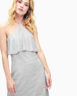 Splendid Linen Mini Stripe Halter Dress