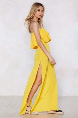 Nasty Gal In for the Frill Strapless Dress
