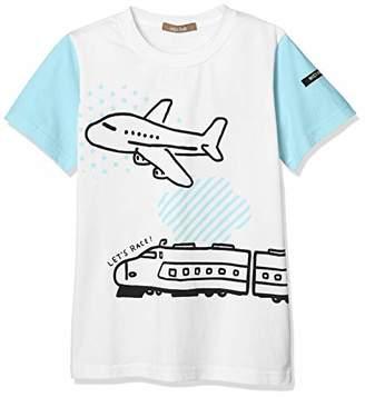 nico hrat (ニコ フラート) - [ニコフラート] Tシャツ 乗り物Tシャツ キッズ 290101 サックス 日本 120 (日本サイズ120 相当)