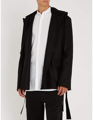 Juun.J JUUN J Hooded double-breasted wool-blend jacket
