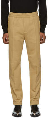 Helmut Lang Tan Darted Leg Jogger Lounge Pants