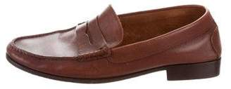 Tod's Leather Round-Toe Loafers