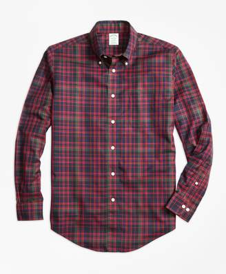 Brooks Brothers Non-Iron Milano Fit MacDonald Tartan Sport Shirt