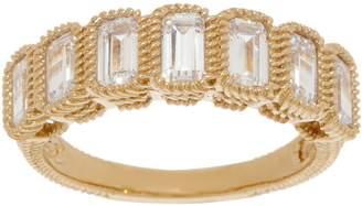 Judith Ripka Sterling or 14K Clad Baguette Diamonique Ring