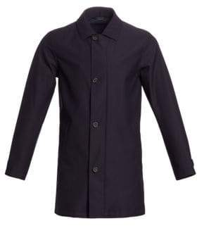 Ermenegildo Zegna Men's Microtene Double-Layer Vest& Jacket - Dark Blue - Size XL