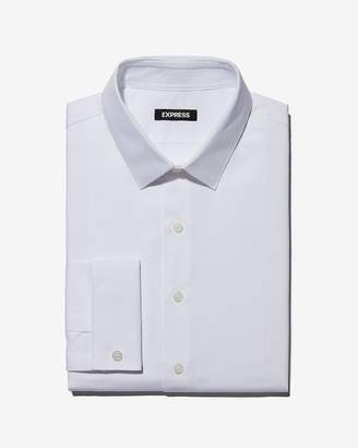 Express Slim Twill Tuxedo Dress Shirt