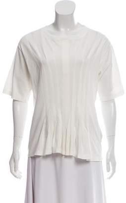 MM6 MAISON MARGIELA Short Sleeve Pleated Top