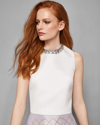 Ted Baker PEPILE Embellished crop top