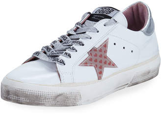 Golden Goose May Leather Low-Top Sneakers