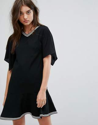 AllSaints Alice Drop Waist Dress