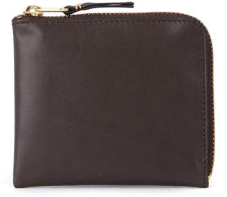 Comme des Garcons Wallet Brown Leather Coin Pocket.