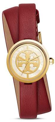 Tory Burch The Reva Red Wrap Strap Watch, 28mm