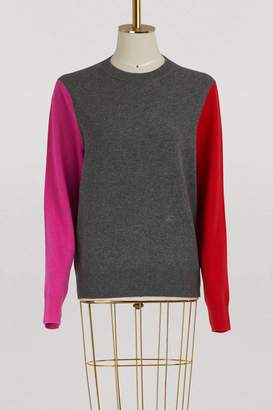 Celine Crew neck sweater in colour block wool