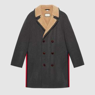 Gucci Felt coat with wool lining
