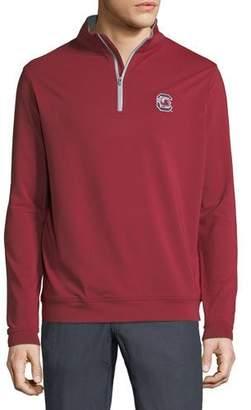 Peter Millar Men's University of South Carolina Perth 1/4-Zip Sweater, Maroon