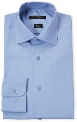Isaac Mizrahi Ice Blue Stretch Slim Fit Dress Shirt