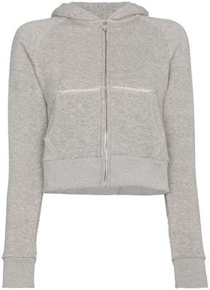 Simon Miller Burke Cropped zip up hoodie