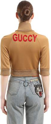 Gucci Cropped Cotton Blend Track Jacket