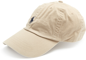 POLO RALPH LAUREN Logo-embroidered cotton cap $25 thestylecure.com