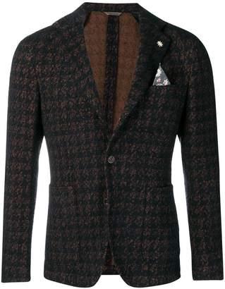 Manuel Ritz dogtooth woven blazer