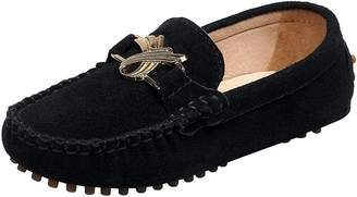df0c97a2d5e Shenn Children s Cute Buckle Suede Leather Loafers Shoes 88818 CA11.5