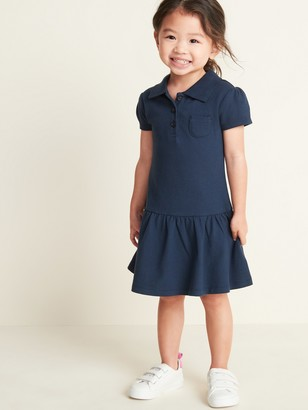 Old Navy Uniform Pique Polo Dress for Toddler Girls