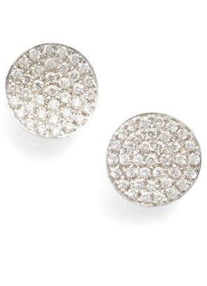 Women's Bony Levy Aurelia Diamond Concave Stud Earrings (Nordstrom Exclusive) $1,395 thestylecure.com