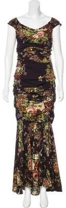 Dolce & Gabbana Secret Garden Cap Sleeve Gown
