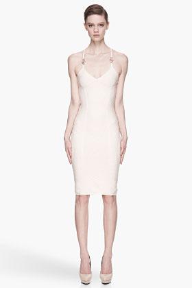 Versace Cream and pink gold ripple Dress