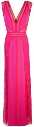 Tadashi Shoji lace inserts gown