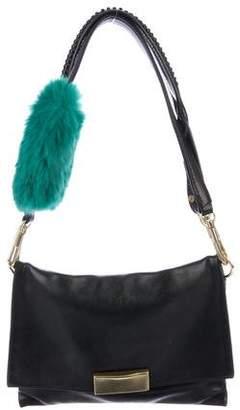 3.1 Phillip Lim Fur-Trimmed Lynus Mini Envelope Bag
