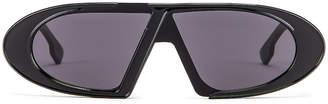 Christian Dior Dioroblique Small Sunglasses in Black & Gray | FWRD