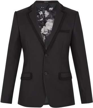ALEXANDER MCQUEEN Embroidered-trim notch-lapel wool blazer $1,994 thestylecure.com