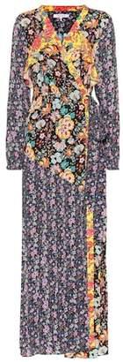 Frame Floral-printed maxi wrap dress