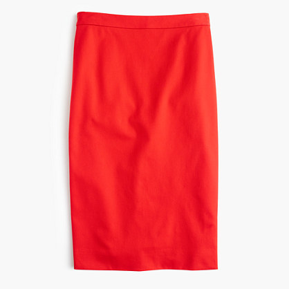 J.Crew Tall pencil skirt in bi-stretch cotton