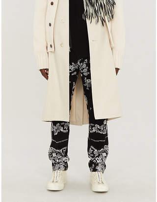 Sacai Graphic-print straight corduroy jeans