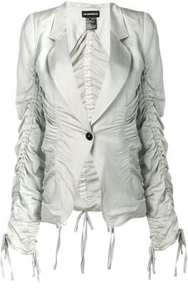 Ann Demeulemeester ruched design blazer