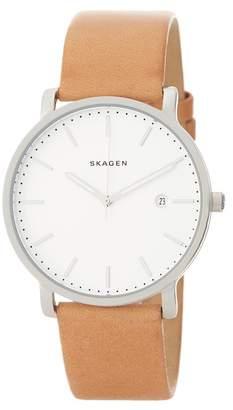 Skagen Men's Hagen Leather Watch, 40mm