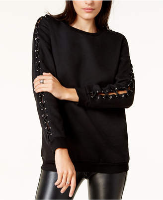 Glam by Glamorous Laced-Sleeve Sweater, Created for Macy's