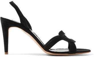 Rupert Sanderson Aurora Suede Slingback Sandals - Black