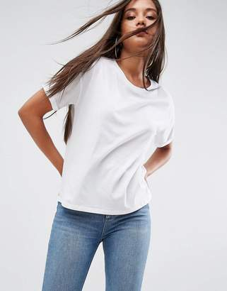 Asos Boxy T-Shirt With Roll Sleeve Detail