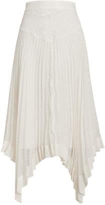 Zimmermann Espionage Sunray Pleated Lace Skirt