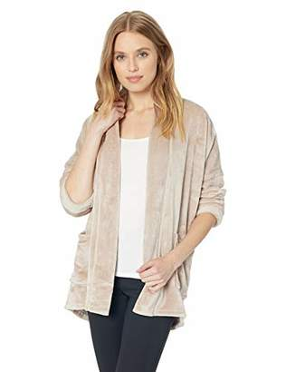 Natori N Women's Plush Fleece Jacket,L/XL
