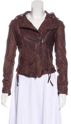 Muu Baa Muubaa Zip-Up Leather Jacket