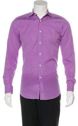 Ralph Lauren Black Label Spread Collar Striped Dress Shirt